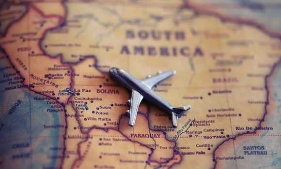 How to get to South America by air